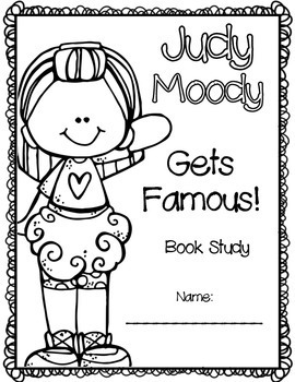 Judy Moody Gets Famous! Book Study by Going Strong in 2nd