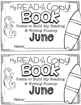 June Poems for Building Reading Fluency & Writing Stamina