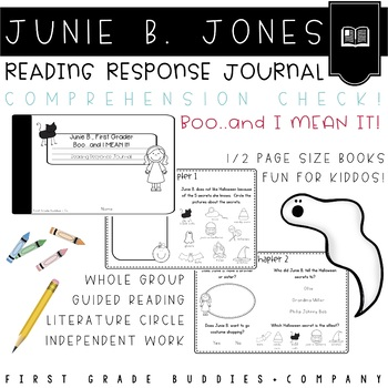 Junie B. Boo and I Mean It Reading Response Journal with