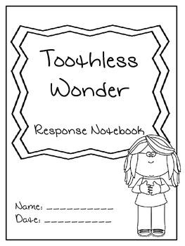 Junie B. Jones the Toothless Wonder Response Notebook (18
