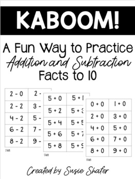 Kaboom! Game for Addition and Subtraction Fact Practice 1