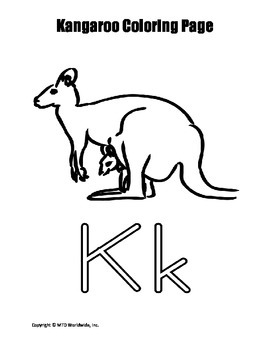 Kangaroo Coloring Pages By Lesson Machine Teachers Pay Teachers