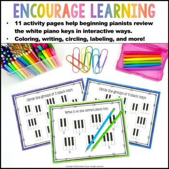 Piano Keys Worksheets: Keys are a Breeze! by Melody Payne
