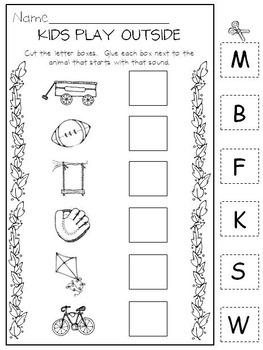 Kids in Kindergarten * Initial Sound * Rhyming * CVC
