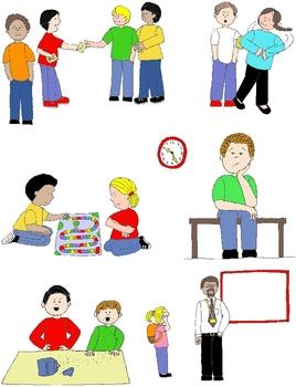 Social Skills Clipart : social, skills, clipart, Action:, Social, Skills, Pragmatic, Language, Visuals