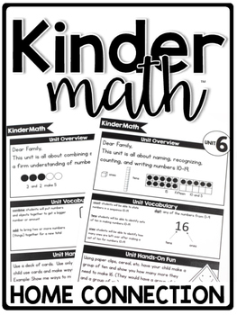 KinderMath™ Kindergarten Math Curriculum Home Connection