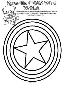 Avengers Super Hero Kindergarten Math and Literacy Packet