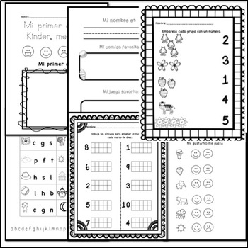 Kindergarten Back to School Packet (in Spanish) by Leigh
