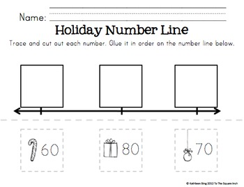 Kindergarten Christmas Math Centers by To the Square Inch