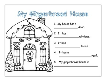 Kindergarten Christmas writing: Gingerbread man and snow