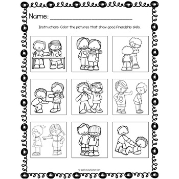 Friendship Classroom Guidance Lesson for Kindergarten and