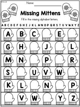 Winter Literacy Worksheets (Kindergarten) by United