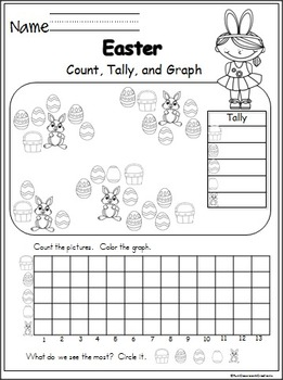 Kindergarten Easter and Spring Packet by Fun Classroom
