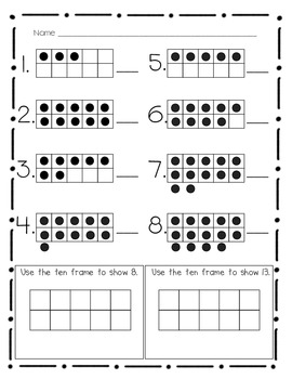 Kindergarten Common Core- K.CC.4- mini-assessments by Mrs