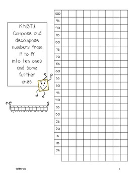 Kindergarten Common Core Math Assessments- K.NBT.1 by Mrs