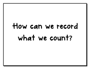 Kindergarten Common Core Math Essential Questions by