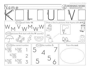 Kindergarten Morning Work • Spiral Review Distance