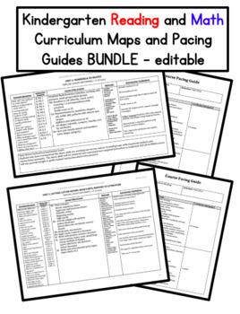 Kindergarten Curriculum Map & Pacing Guide BUNDLE