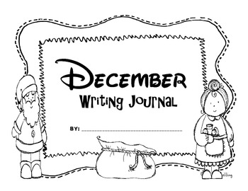 Kindergarten December Writing Prompts and Journal Pages