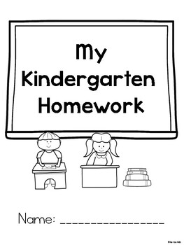 Kindergarten E-Learning Packet for School Closures by