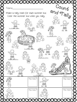Kindergarten End of Year Review Activities by KD Creations