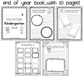 Kindergarten End of Year and Graduation Activities by Easy