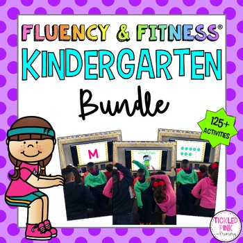 Kindergarten Fluency Fitness Brain Breaks Bundle Distance Learning