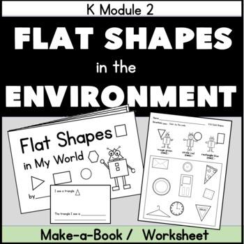 Shapes in Environment Kindergarten Geometry Printable Book