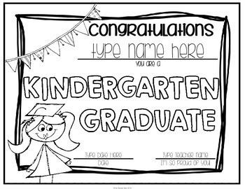 Kindergarten Graduation Certificates & Kindergarten
