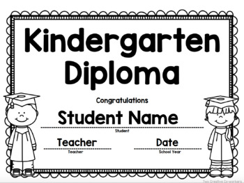 Kindergarten Graduation Diploma / Certificate / Invitation