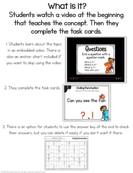 Grammar Digital Task Cards Bundle- Kindergarten Centers