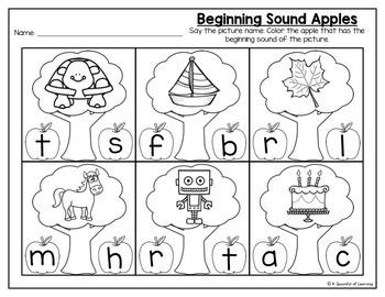 Kindergarten Homework- September (English Only) Aligned to