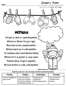 Kindergarten Homework for JANUARY WEEK 1 {Free Sample!} by