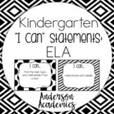 Kindergarten Common Core I Can Statements Teaching