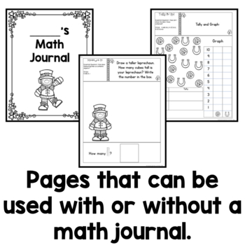 Kindergarten Interactive Math Notebook for March by