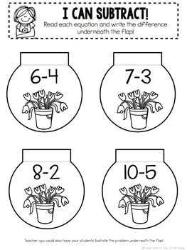 Kindergarten Interactive Math Notebook- April, May, and