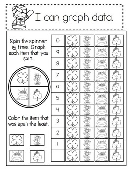 Kindergarten Interactive Math Notebook- February and March