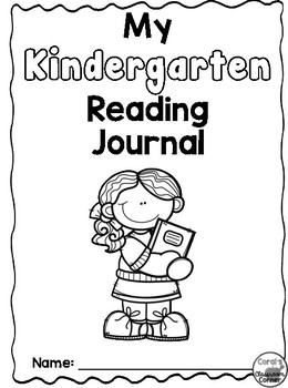Kindergarten Interactive Notebook Cover Page by Coral's