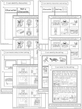 Kindergarten Language Arts Interactive Notebook ~ Story