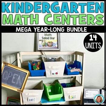 Kindergarten Math Centers YEARLONG BUNDLE