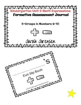 Kindergarten Math Expressions Unit 2 Exit Slip Journal by