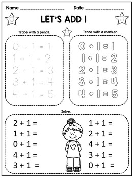 Kindergarten Math Facts Fluency: Trace and Solve by Dana's
