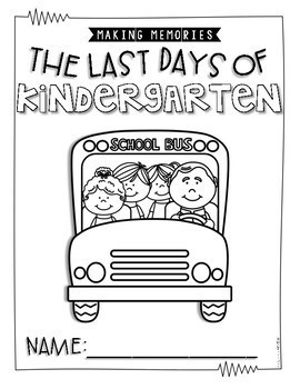 The Last Days of Kinder and First Grade {Memory Book} by