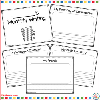 Kindergarten Monthly Writing Prompts by Time 4