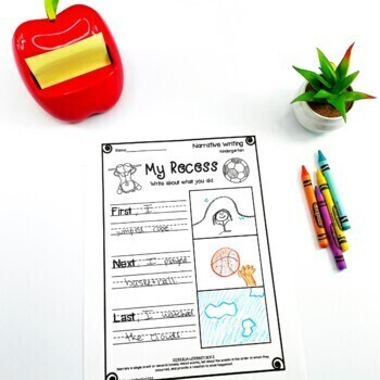 Kindergarten Narrative Writing Prompts/Worksheets by