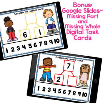 Kindergarten Number Bonds Worksheets to 10 by Melissa