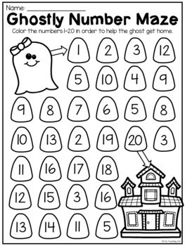 Kindergarten Numbers to 20 Worksheet Pack by My Teaching