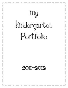 Kindergarten Portfolio Cover and Tabs by Kindergarten Kel