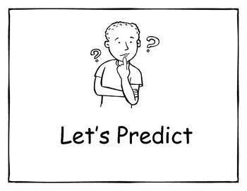 Kindergarten Prediction Lesson & Worksheets by JoAnn