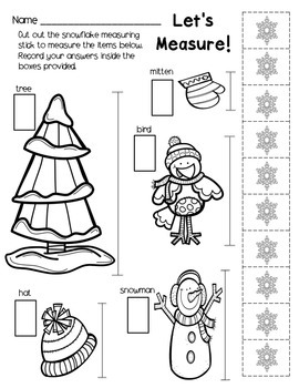 Kindergarten Printables: January Themed by The Buzzing